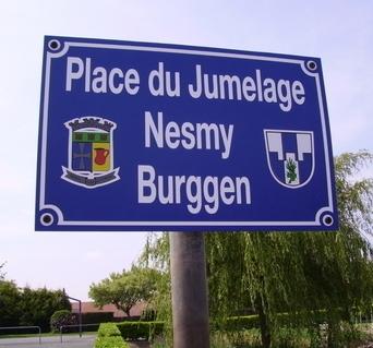 Place du Jumelage Nesmy Burggen Pancarte - NESMY -F85310